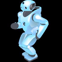 dancing, robot icon