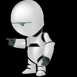 android, automatic, automatic machine, automaton, machine, machine gun, paranoid, robot, shadow, with icon