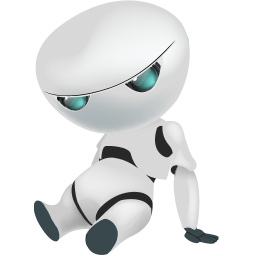 robot, sad icon