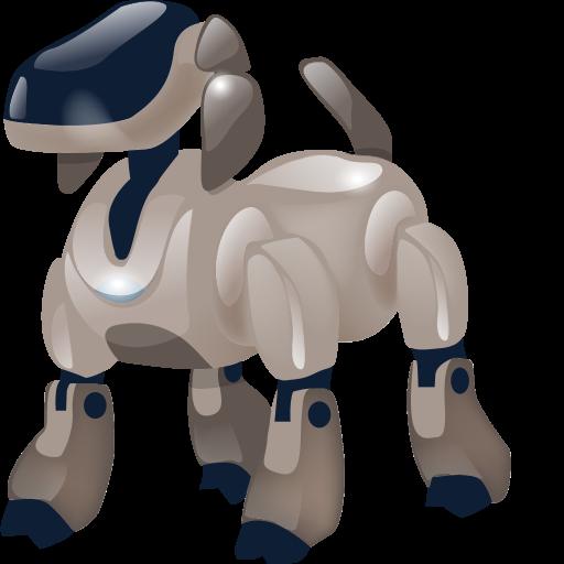 at, automatic, automatic machine, automaton, bowwow, detent, dog, doggie, doggy, hound, machine, machine gun, pawl, pooch, robot, trigger icon