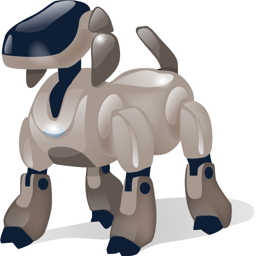 automatic, automatic machine, automaton, dog, machine, machine gun, robot, shadow, with icon