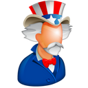 america, american, hat, sam, stars, uncle, uncle sam, united states, us, usa, world police icon