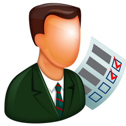 auditor, bullets, checkboxes, manager, organize, organizer, stock, supervisor, task, to do list, todo, user icon