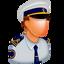 cap, captain, human, male, man, officer, sea icon