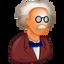 doc, doctor, druggist, einstein, pensioner, phd, prof, professor, retired, retireee, teacher, uncle icon