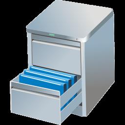 bin, box, bumf, bumph, card, case, chest, data set, file, guard, keep, locker, preserve, retain, store icon