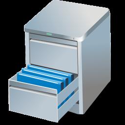 bin, box, bumf, bumph, card, case, chest, data set, file, guard, keep, locker, preserve, retain, shadow, store icon