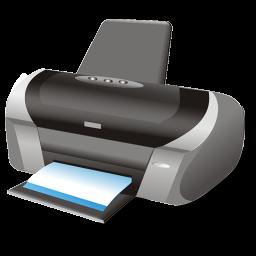 printer, shadow, symbol icon