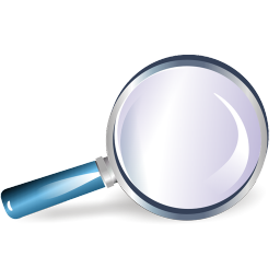 bull's-eye, loupe, magnifier, magnifying glass, reading-glass, shadow, zoom icon
