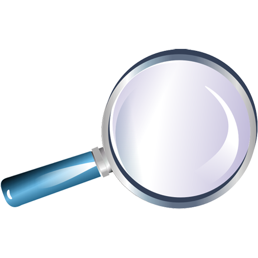 bull's-eye, loupe, magnifier, magnifying glass, reading-glass, zoom icon