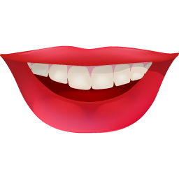 funny, happy, hollywood, lips, red, smile, smiley, teeth icon