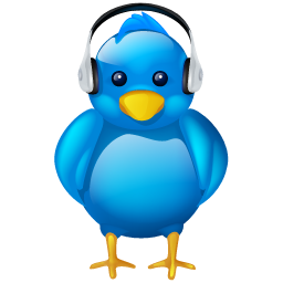 audio, bird, headphones, logo, music, social, social media, tweet, twitter, volume icon