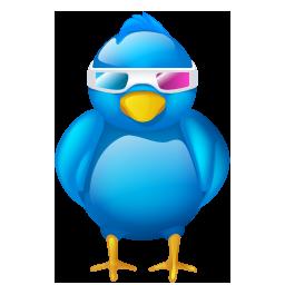 3d, bird, cinema, logo, movie, social, social media, tweet, twitter, video icon