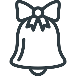 bell, christmas, sound icon