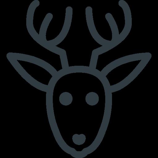 animal, christmas, deer, rudolf icon