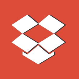 data, dropbox, file, logo, red, sharing, storage icon