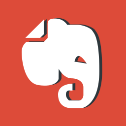 evernote, logo, logos, logotype, network, red, social media icon