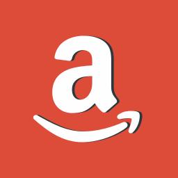 amazon, logo, logotype, pay, red, symbols icon