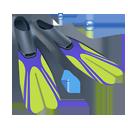 diving, fins, scuba