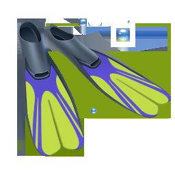 diving, fins, scuba icon