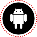 media, social, android, stitches icon