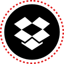 dropbox, media, social, stitches icon