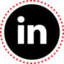 linkedin, media, social, stitches icon