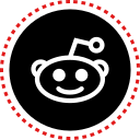 media, reddit, social, stitches icon