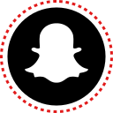 media, snapchat, social, stitches icon