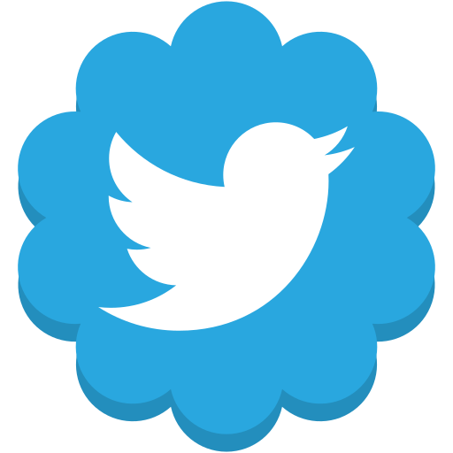 flower, media, round, social, twitter icon