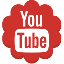 flower, media, round, social, youtube icon