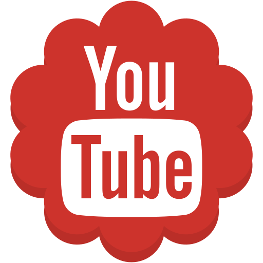 flower, media, round, social, youtube icon