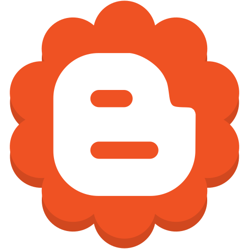 blogger, flower, media, round, social icon
