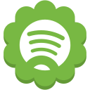 social, spotify, flower, round, media icon