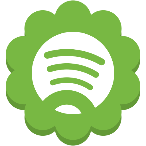 flower, media, round, social, spotify icon