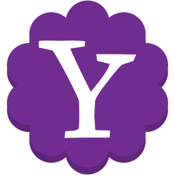 flower, media, round, social, yahoo icon