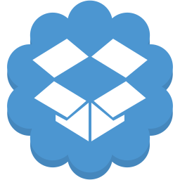 cloud, data, dropbox, flower, media, round, social icon