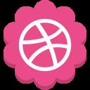 dribble, flower, media, round, social