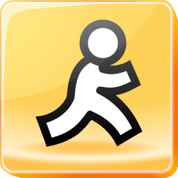 aol, chat, instant, mail, message, messenger icon