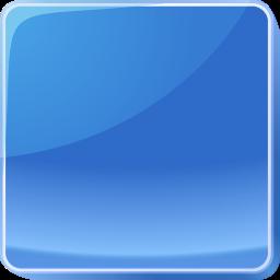 blue, button, dark icon