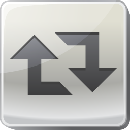 arrow, copy, duplicate, retweet, social, square icon