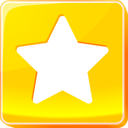 bookmark, button, buttons, favorite, internet, multimedia, square, star, web icon