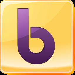 b, buzz, logo, network, social, social media, square, yahoo icon