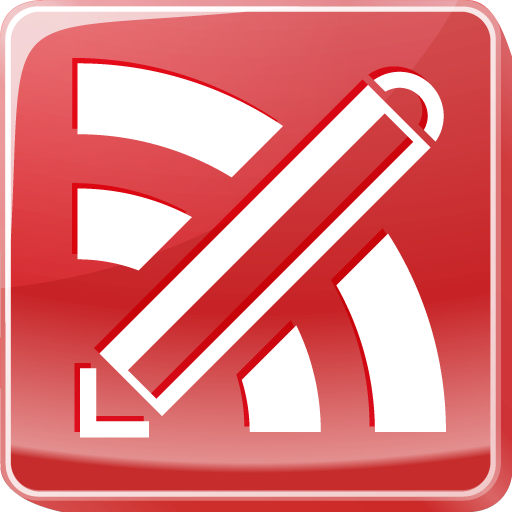 blogging, feed, writer, writing icon