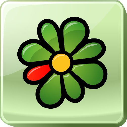 centralized, icq, instant, logo, media, messaging, messenger, service, social, social media, square icon