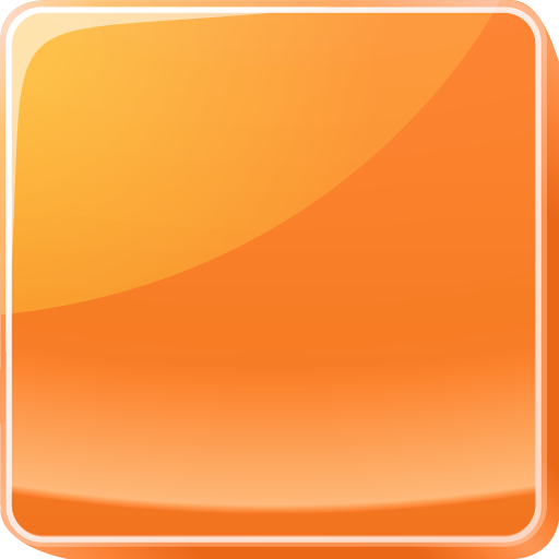 button, orange icon