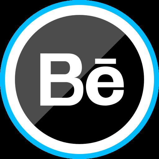 behance, corporate, logo, media, social icon
