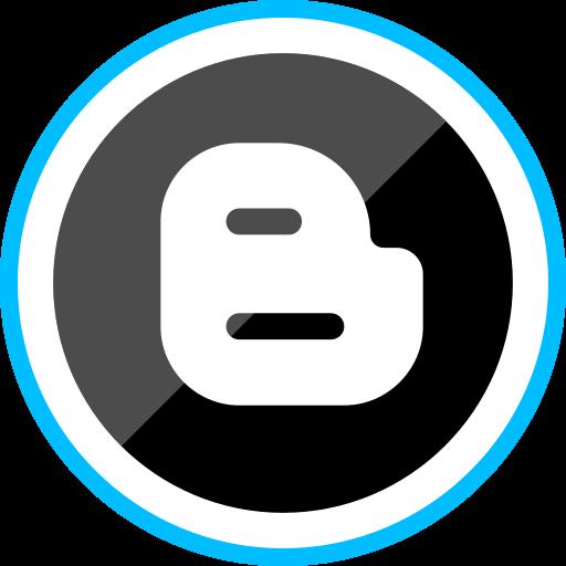 bloggger, corporate, logo, media, social icon