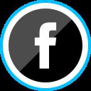 corporate, facebook, logo, media, social icon
