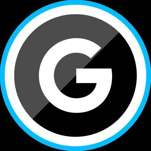 corporate, google, logo, media, social icon